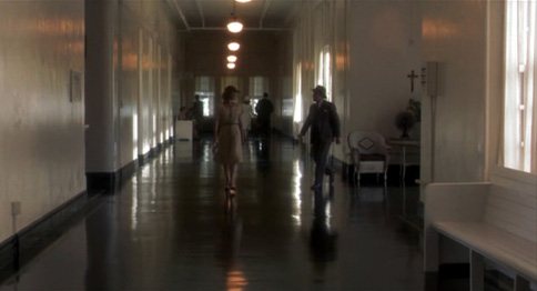 A scene from The Natural showing the interior of the Buffalo State Hospital Kirkbride building