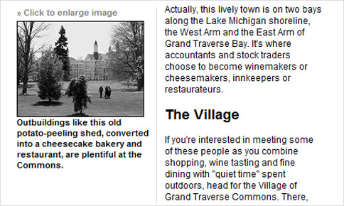 Article about the Village of Grand Traverse Commons