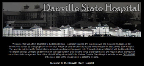 Danville State Hospital Web Site